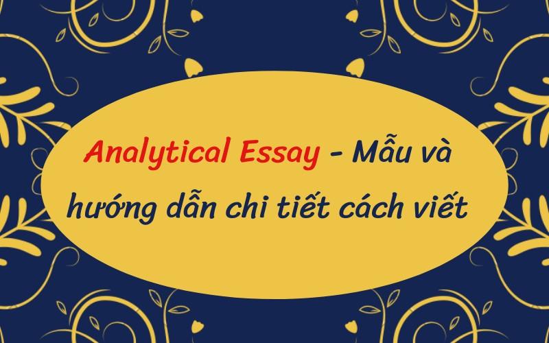 analytical essay là gì
