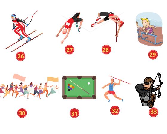 Các môn thể thao trên cạn trong Tiếng Anh (3)