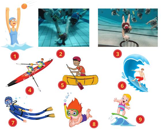 Các môn thể thao dưới nước bằng Tiếng Anh (1)