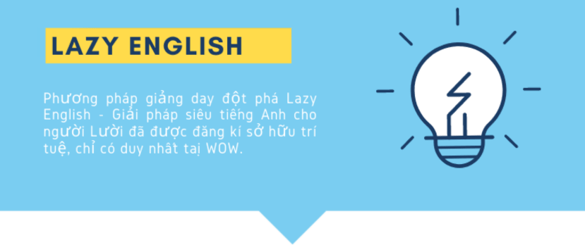 3. LAZY ENGLISH
