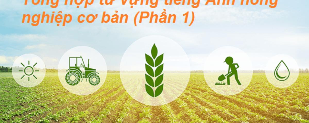 Basic Agriculture Vocabulary - Tổng hợp từ vựng tiếng Anh nông nghiệp cơ bản (Phần 1)