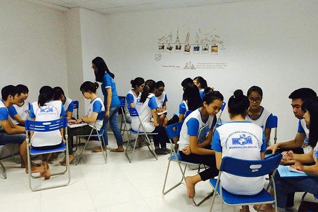 Hình ảnh về một buổi học tại Wow English