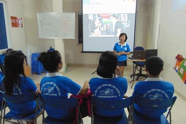 Một lớp học OFFLINE tại Trung tâm Anh ngữ Wow English