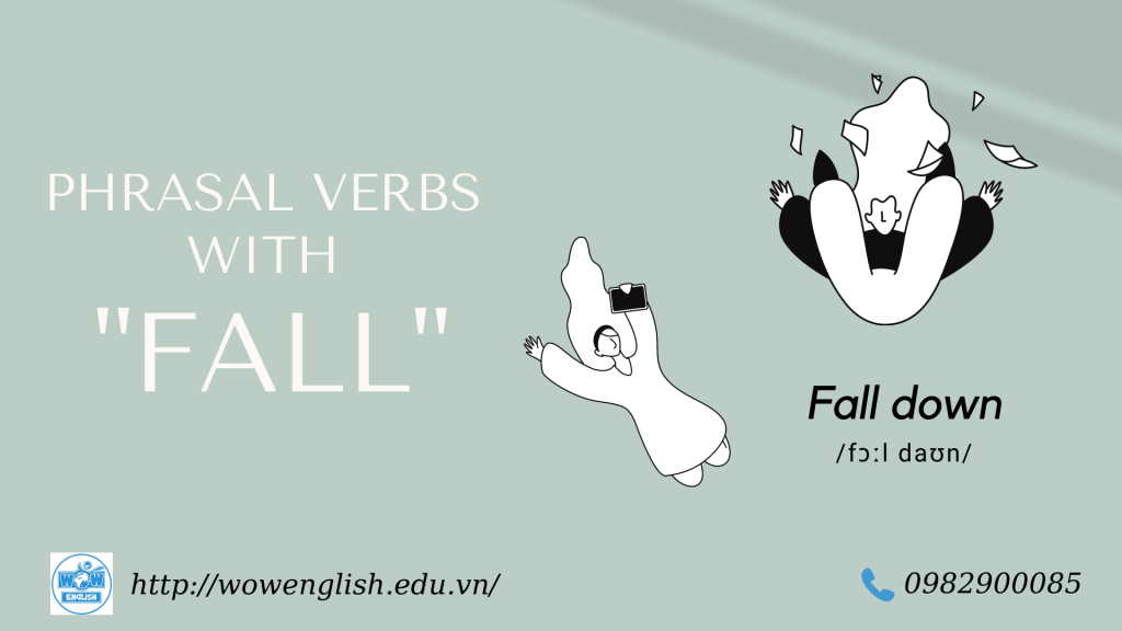14 Phrasal verbs with Fall - Fall out, Fall down, Fall off,....
