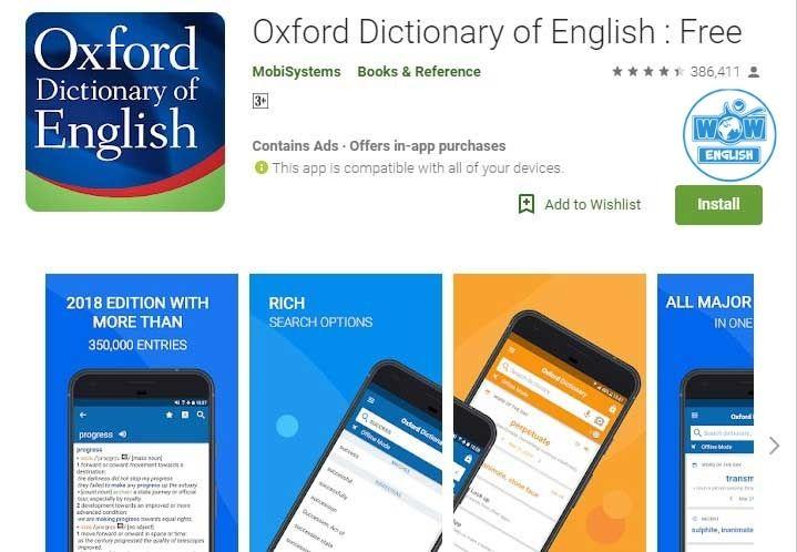 App học từ vựng tiếng anhOxford Dictionary of English