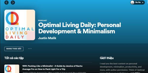 Podcast Optimal Living Daily